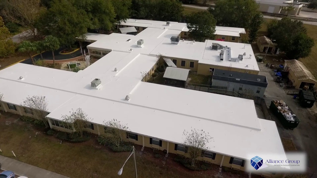 Gaco Western Silicone Roof Coating Over Epdm In Longwood