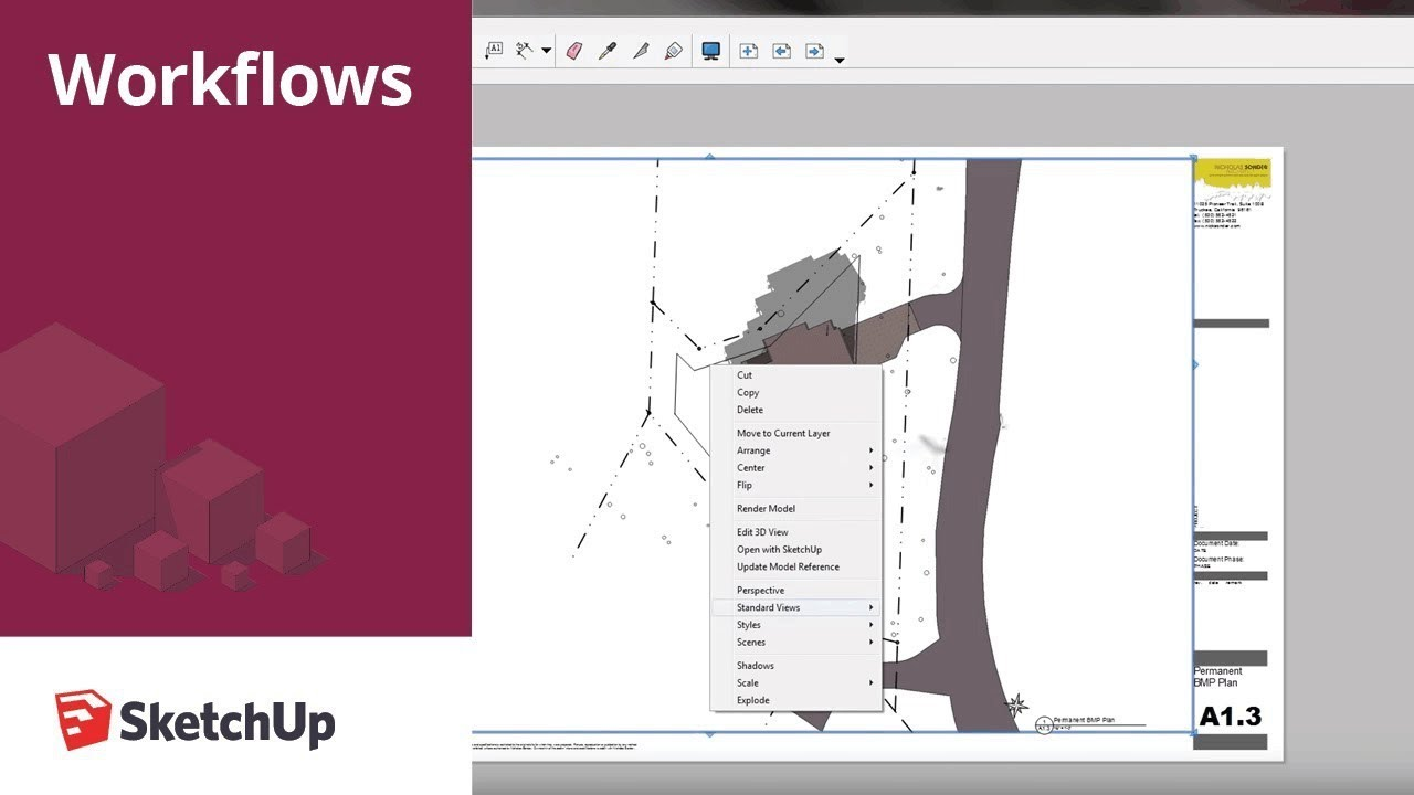 SketchUp for Construction Documentation: Layout Site Plan ...