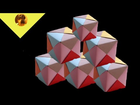Diy how to origami paper cube. No glue. #howtomakeorigamipapercube.