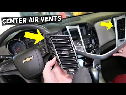 CHEVROLET CRUZE CENTER DASH AIR VENT REMOVAL REPLACEMENT. CHEVY CRUZE