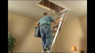Keller - Aluminum Attic Ladder Brief Installation Video