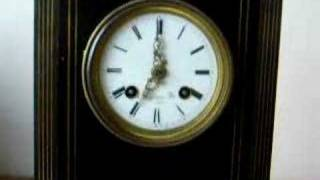 C.1860 silk suspension mantle clock