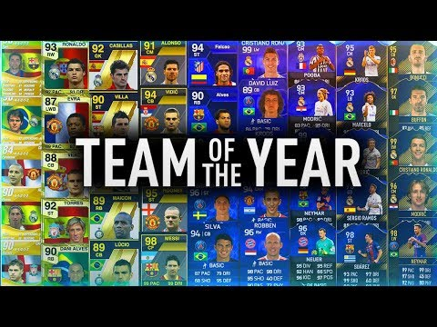 EVERY TEAM OF THE YEAR From FIFA 09 - FIFA 18 😱🔥