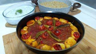 Kilis Tava İle Kolay Akşam yemeği Menüsü /Kilis Tava/Şehriyeli Bulgur Pilavı/Cacık/Seval Mutfakta