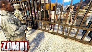 ВЫЖИВШИХ НЕ ПУСКАЮТ НА БАЗУ В ЗОМБИ АПОКАЛИПСИС В GTA 5