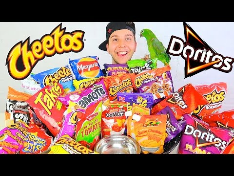 Hot Cheetos, Doritos, Takis, & Nachos With Cheese • MUKBANG