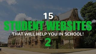 15 Student Websites That Will Help You in School! 2