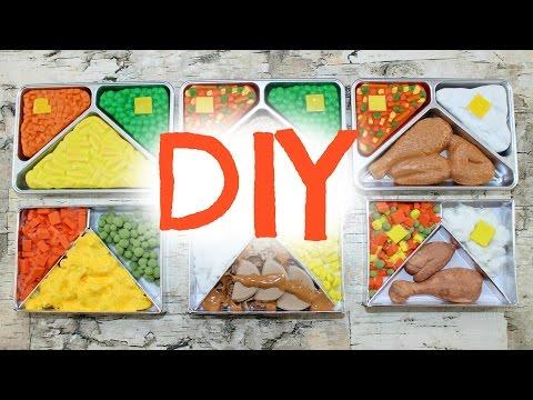 DIY American Girl Doll TV Dinners