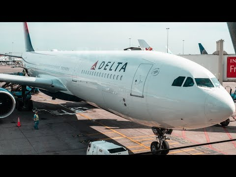 WOW! DELTA AIRLINES A330 ECONOMY CLASS TO NEW YORK | AMS-JFK | FlyAround
