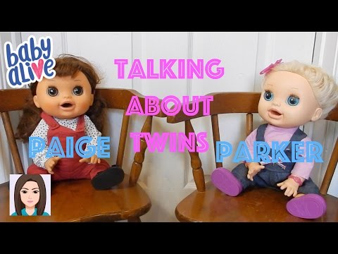 Baby Alive Twins Paige and Parker Talk About Twins!
