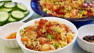 CƠM CHIÊN GÀ THẬP CẨM - Cách chiên Rau Củ giữ màu và Hạt Cơm tơi rời fried rice by Vanh Khuyen