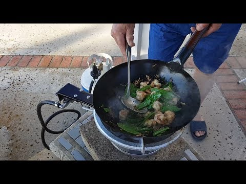 My 100,000 BTU Backyard Wok Burner Setup