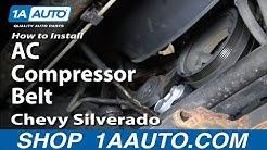 How to Replace AC Compressor Belt 01-06 GMC Sierra