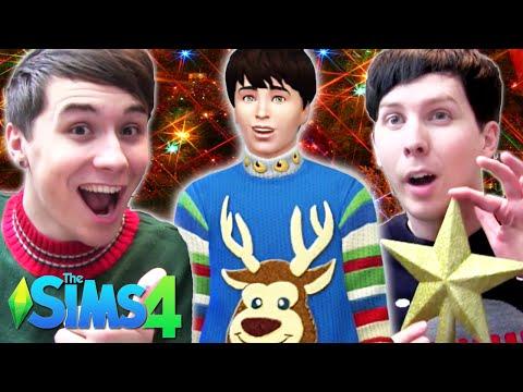 MERRY DILMAS! - Dan and Phil Play: Sims 4 #12