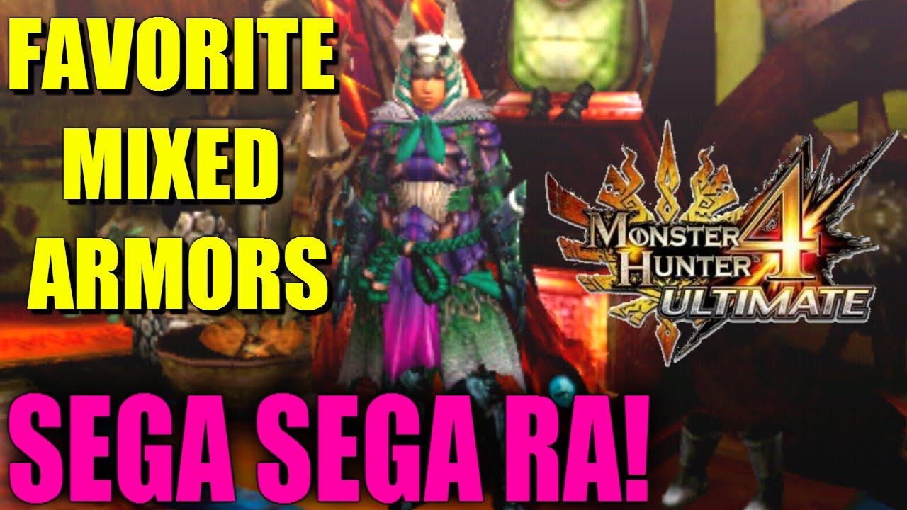 MH4U: My favorite G Rank mixed armor sets: 'SEGA SEGA RA' for IG