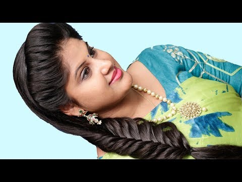 most-beautiful-wedding-guest-hairstyles-with-saree- -hairstyle-girl- -elegant-&-gorgeous-hairstyles