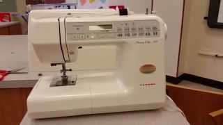 How to Insert Top Thread in Janome Memory Craft 3000 Series Sewing Machine
