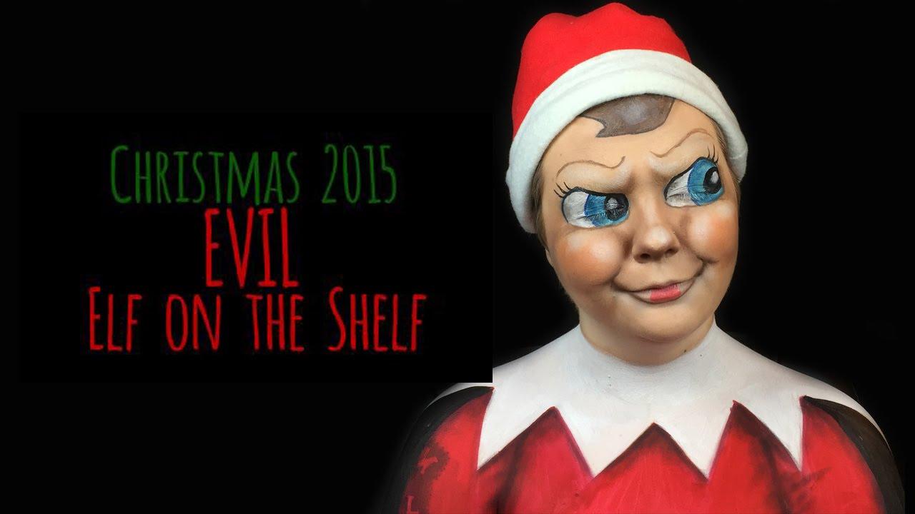 Evil Elf on the Shelf | A Christmas Make-Up Tutorial - YouTube