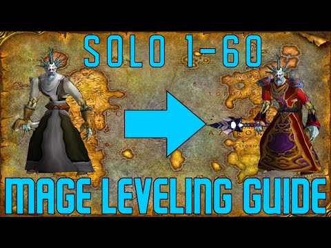 Horde Mage Speed Leveling Guide | Solo AoE Farm locations 1-60 (also some quests) | Mage Compendium