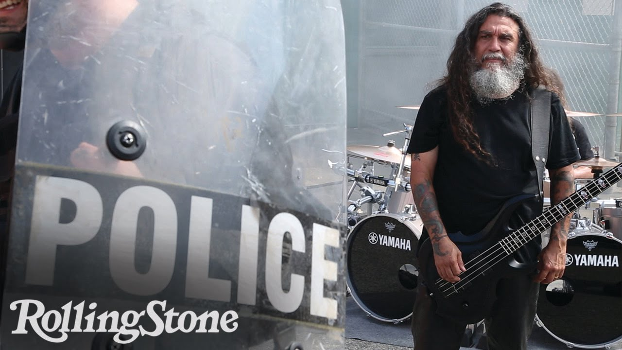 slayer and danny trejo film a gore drenched video at an l. Black Bedroom Furniture Sets. Home Design Ideas