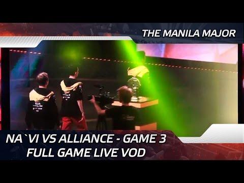 Na`Vi vs Alliance - Game 3 Full game LIVE VOD @ The Manila Major