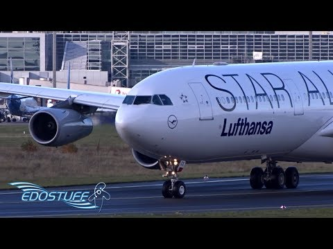Star Alliance Lufthansa - Airbus A340-313 D-AIGX - Takeoff from Frankfurt am Main EDDF/FRA