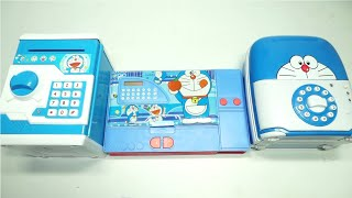 World Best Doramon Atm Piggy Bank,Doramon Double Pencil Box And Doramon Money Bank
