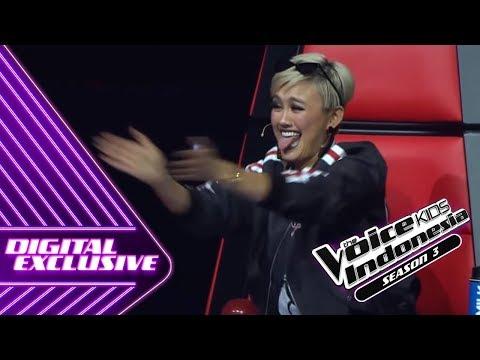 AgnezMo Melet-Melet Kenapa Nih?   Coach Reaction #3   The Voice Kids Indonesia Season 3 GTV 2018