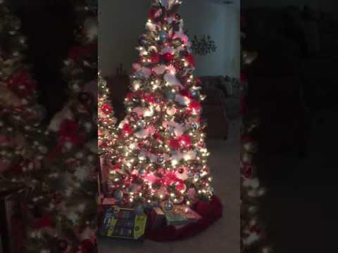 Christmas tree on rotating stand