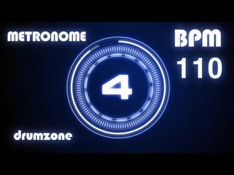 110 BPM - Metronome - Click & Voice ( 1 hour )