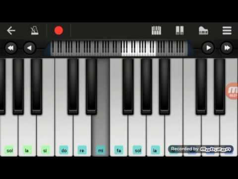 Not Piano - Acha Septriasa Ft Irwansyah My Heart ( Walk Band Tutorial ) Tutorial Piano