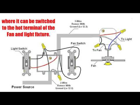hook up ceiling fan with light