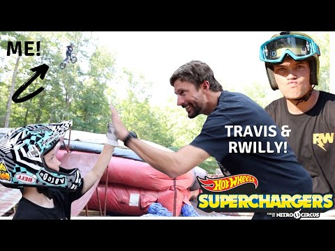 I jumped the MEGA RAMP at Pastranaland with Travis and RWilly!