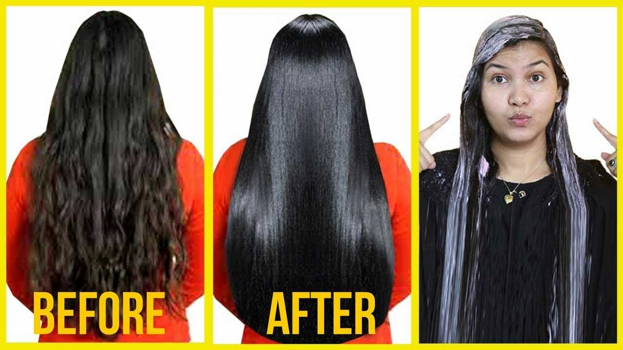 how to get straight and silky hair at home
