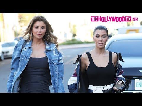 Kourtney Kardashian & Larsa Pippen Arrive To Alfred Coffee To Film Keeping Up With The Kardashians