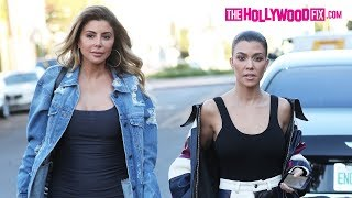 Kourtney Kardashian & Larsa Pippen Arrive To Alfred Coffee To Film Keeping Up With The Kardashians