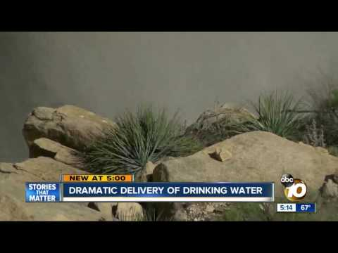 Dramatic delivery of drinking water