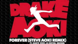 Download Drake - Forever(feat. Kanye West, Lil Wayne, And Eminem) (steve aoki remix).wmv MP3 song and Music Video