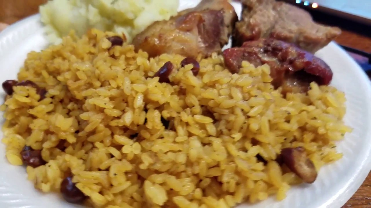 Puerto Rican Rice With Beans Youtube