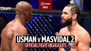 What a KO! Kamaru Usman v Jorge Masvidal 2 | UFC 261 Fight Highlights