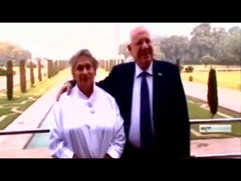 Israeli President Reuven Rivlin visits Taj Mahal along with wife