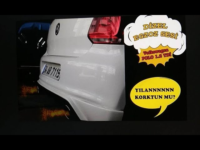 Volkswagen Polo 1.2 Dizel Egzoz Sesi ve Body kit