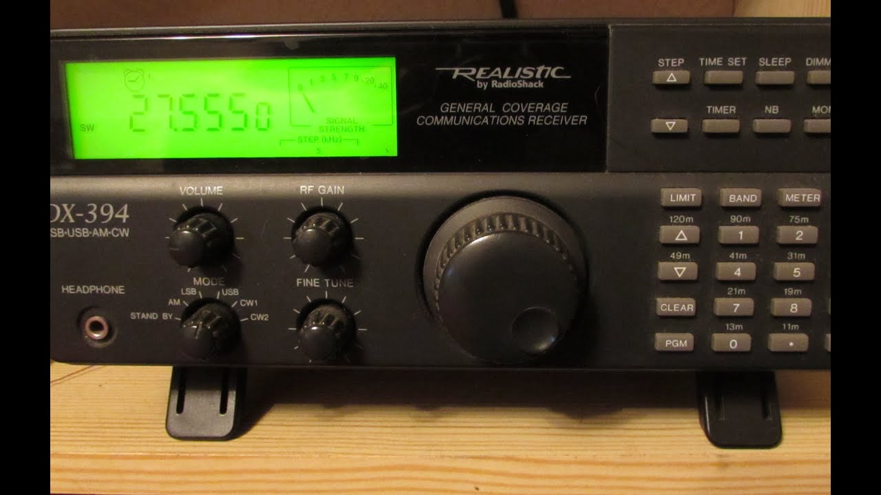 Realistic DX-394 HF Receiver - Scanning 27 & 28MHz USB