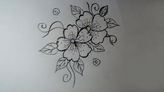 flower flowers drawing draw simple designs pencil beginners