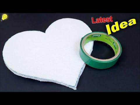 DIY Heart Shaped Wall Decor Showpiece using Paper    Handmade Craft