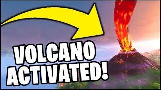 'RIGHT NOW' Fortnite VOLCANO UNVAULT EVENT - Volcano is ERUPTING!! (FUITE - NOUVELLE CARTE?)