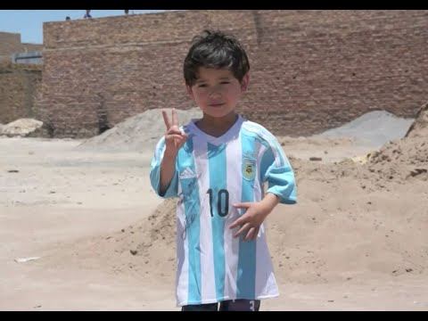 Afghan Boy of Plastic Bag Messi Jersey Fame Migrates to Pakistan As Result of Threats