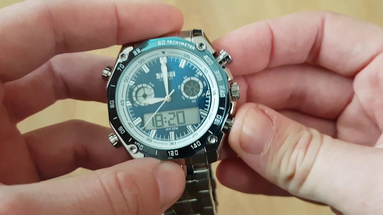 0e4f3e08 Мужские часы Skmei Direct Blue / 1204. Видео обзор! Инструкция! Как  настроить!
