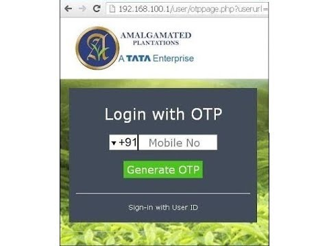 Hotel WiFi Login Through SMS-OTP