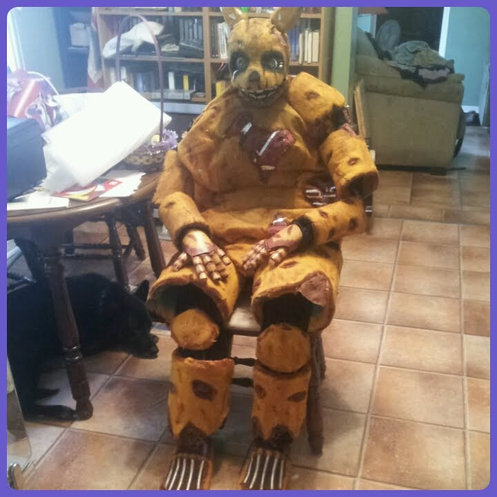 Fnaf springtrap cosplay tutorial part four final youtube